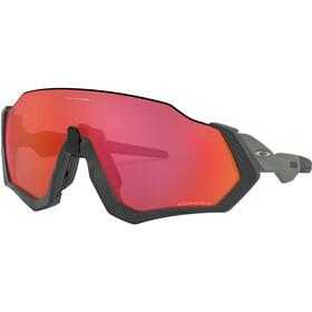Oakley Flight Jacket Sunglasses matte steel/prizm trail torch